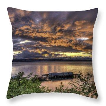 Mukilteo Sunset Throw Pillow