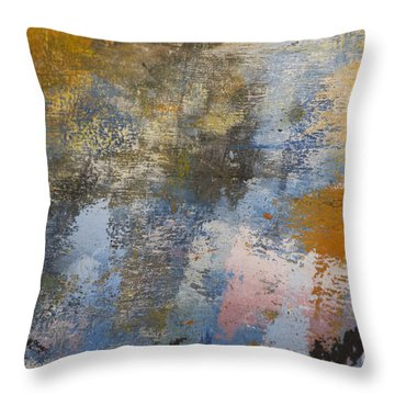 Mulberry On Concrete Throw Pillow by Nola Lee Kelsey