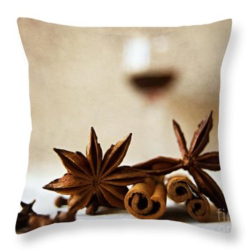 Mulled Wine IIi Throw Pillow