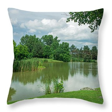 Muller Chapel Pond Ithaca College Throw Pillow