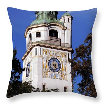 Mullersches Volksbad Munich Germany - A 19th Century Spa Throw Pillow by Christine Till