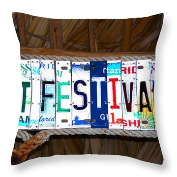 Mullet Fest 2012 Throw Pillow by David Lee Thompson