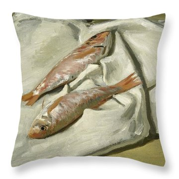 Mullets Throw Pillow by Claude Monet