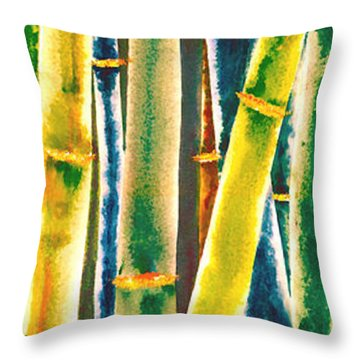 Multi Colored Bamboo Throw Pillow