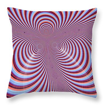 Multi-coloured Abstract Design Throw Pillow by Paul Sale Vern Hoffman