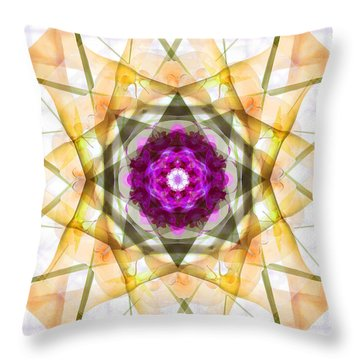 Multi Flower Abstract Throw Pillow by Mike McGlothlen