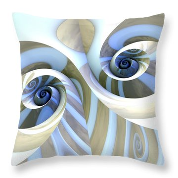 Multi-swirl Throw Pillow by Kevin Trow