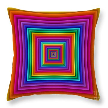 Multichrome 8 Throw Pillow