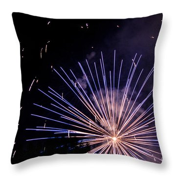 Throw Pillow featuring the photograph Multicolor Explosion by Suzanne Luft