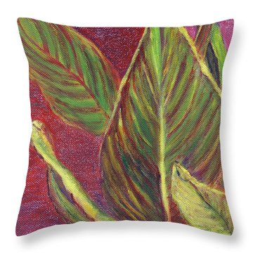 Multicolor Leaves Throw Pillow