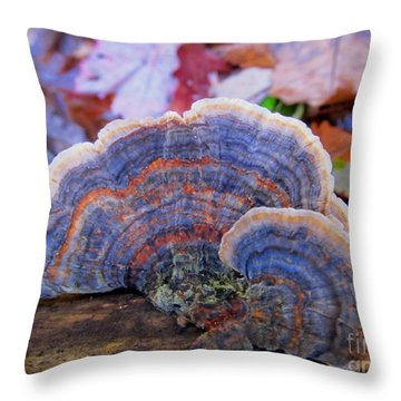 Multicolor Mushroom Throw Pillow