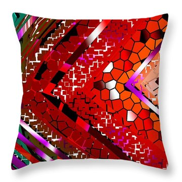 Multicolored Abstract Art Throw Pillow by Mario Perez