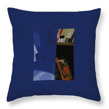 Multimedia Books Throw Pillow