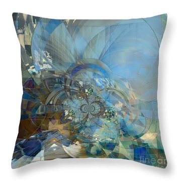 Throw Pillow featuring the digital art Multiple Dimensions by Ursula Freer