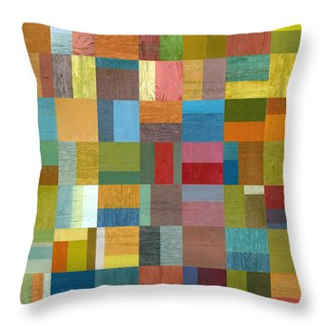 Multiple Exposures Ll Throw Pillow by Michelle Calkins