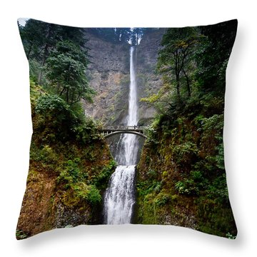 Multnomah Falls Oregon State Waterfall Throw Pillow by Puget  Exposure