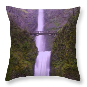 Multnomah In The Drizzling Rain Throw Pillow by Jeff Swan