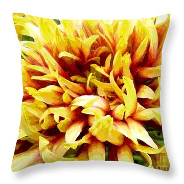 Throw Pillow featuring the photograph Mum 3 by Sally Simon