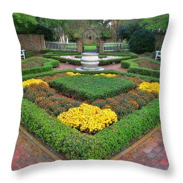 Mum Garden Throw Pillow by Victor Montgomery