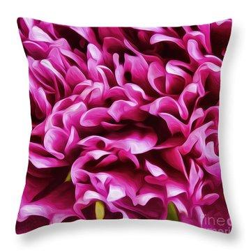 Mum Petals-2 Throw Pillow