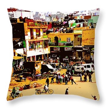 Mumbai Morning Throw Pillow