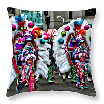 Mummer Color Throw Pillow by Alice Gipson