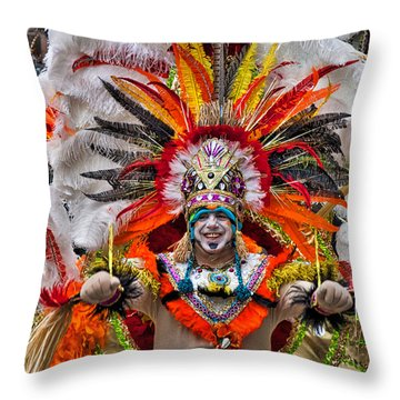 Mummer Wow Throw Pillow by Alice Gipson