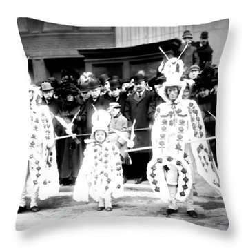 Mummers Circa 1909 Throw Pillow by Bill Cannon