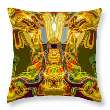 Mummified Throw Pillow by Omaste Witkowski