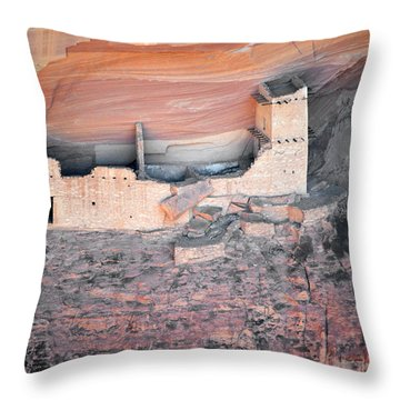 Mummy Cave Ruin Canyon Del Muerto Throw Pillow by Christine Till