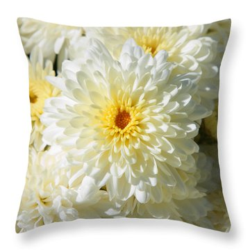 Throw Pillow featuring the photograph Mums The Word by Courtney Webster