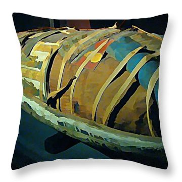 Mums The Word Throw Pillow by John Malone Halifax artist