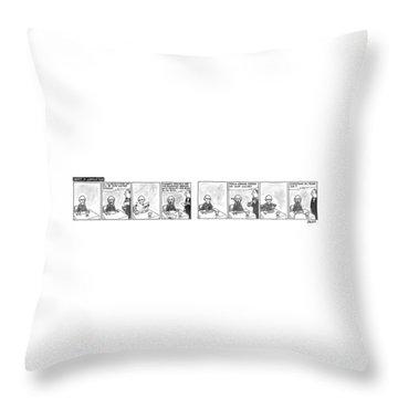 Munch In Manhattan Throw Pillow