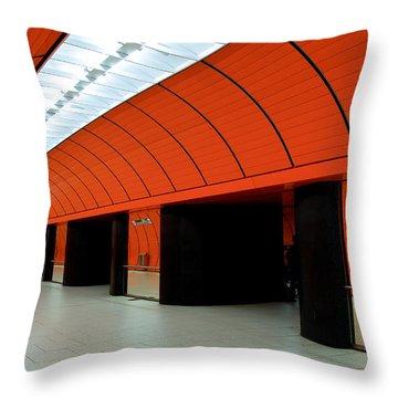 Munich Subway IIi Throw Pillow by Hannes Cmarits