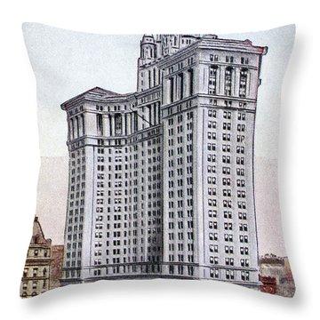 Municipal Building Throw Pillow by Granger