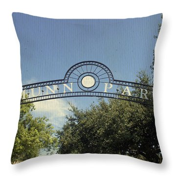 Munn Park Throw Pillow by Laurie Perry