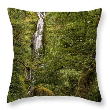 Munson Creek Falls Throw Pillow