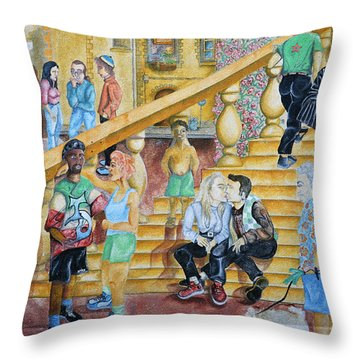 Mural Painting In Poitiers Throw Pillow by RicardMN Photography