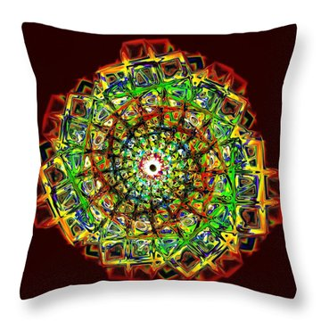 Murano Glass - Red Throw Pillow by Anastasiya Malakhova