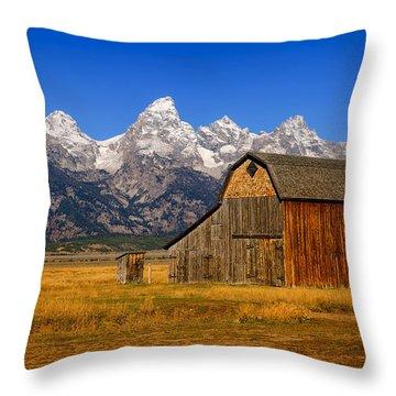 Murphy Barn Throw Pillow by Greg Norrell
