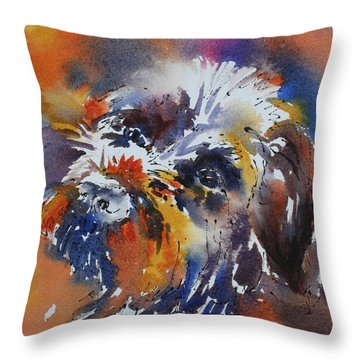Murphy Man Throw Pillow by Tara Moorman