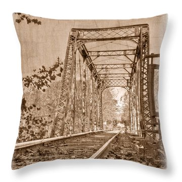 Murphy Trestle Throw Pillow by Debra and Dave Vanderlaan