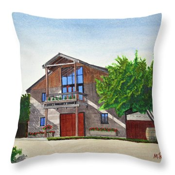 Murrietas Well Winery Throw Pillow by Mike Robles