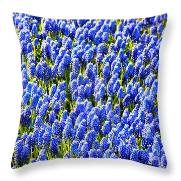 Muscari Early Magic Throw Pillow