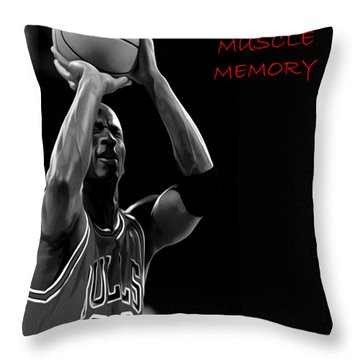 Throw Pillow featuring the painting Muscle Memory by Brian Reaves