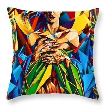 Muse  Spring Throw Pillow by Greg Skrtic