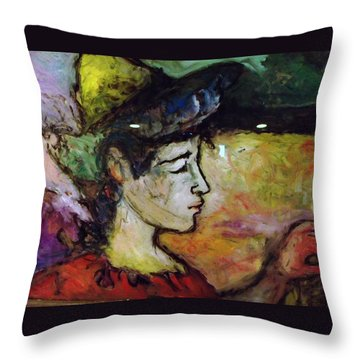 Muse Struck Throw Pillow by Mykul Anjelo
