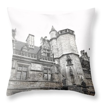 Musee De Cluny When The World Was Flat Throw Pillow by Evie Carrier