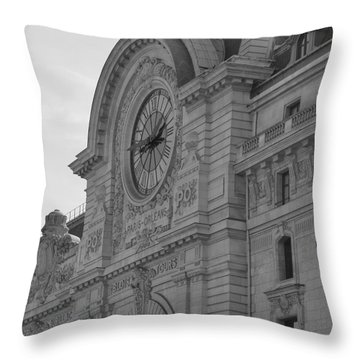 Musee D'orsay Throw Pillow by Cheryl Miller