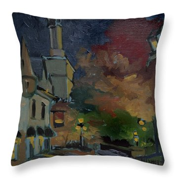 Musee Du Fort Night Study Throw Pillow by J R Baldini